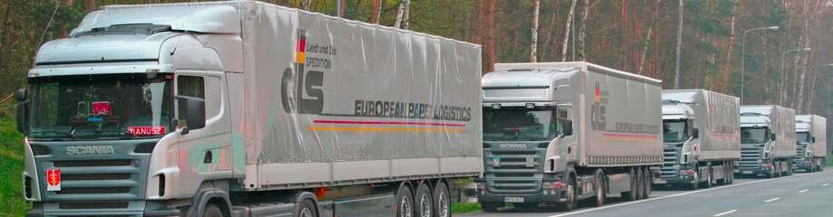 Unsere LKWs transportieren ihre Waren durch ganz Europa.